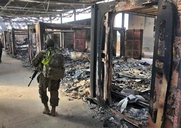 İran saldırı sonrası ABD üssünden olay fotoğraflar 1