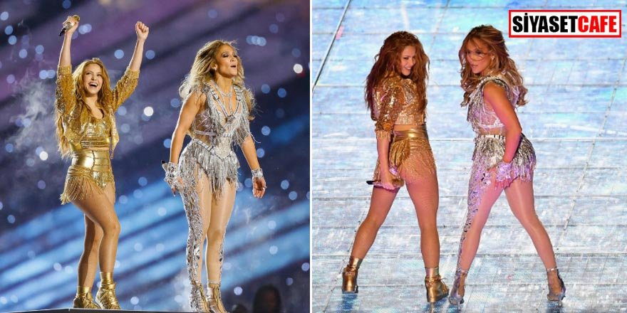 Shakira ve Jennifer Lopez, devre arasına damga vurdu!