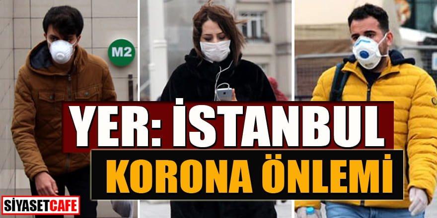 İstanbul'da vatandaşlardan koronavirüs önlemi