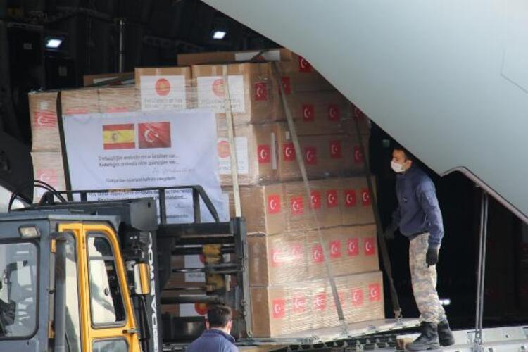 Türkiye'den İspanya ve İtalya'ya  yardım paketleri gönderildi 1