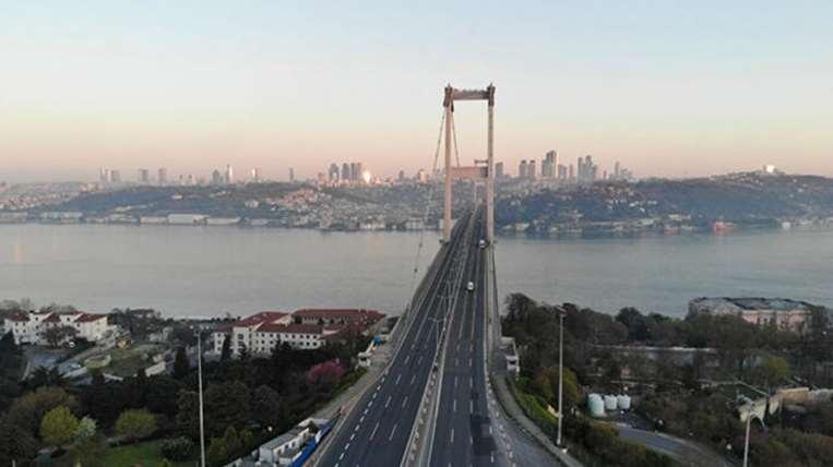 Sokağa çıkma yasağında ilk gün İstanbul'da sessizlik hakim 1