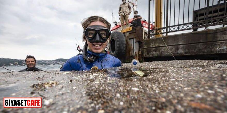 Şahika Ercümen, Boğaz'daki kirliliği fotoğrafladı