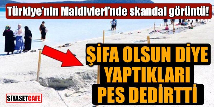 Türkiye'nin Maldivleri'nde skandal görüntü!