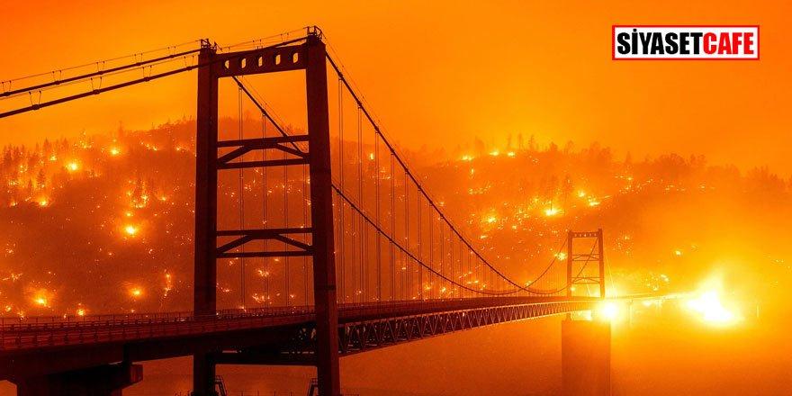 Bu kareler bir felaket filmi değil, San Francisco turuncuya büründü