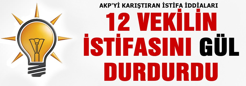 AKP'yi karıştıran istifa iddiası