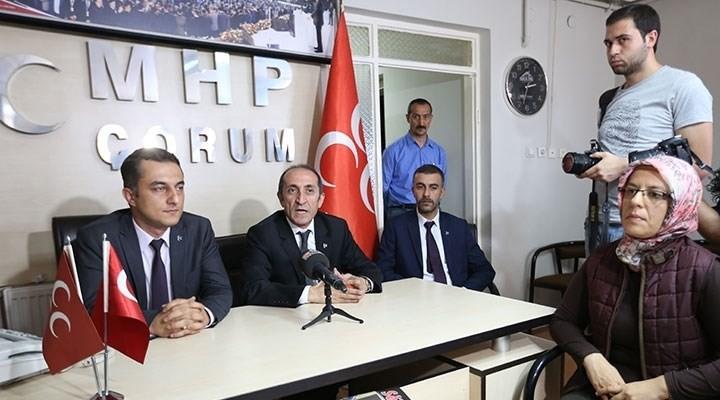 Çorum'da MHP'li yöneticilere  gözaltı girişimi
