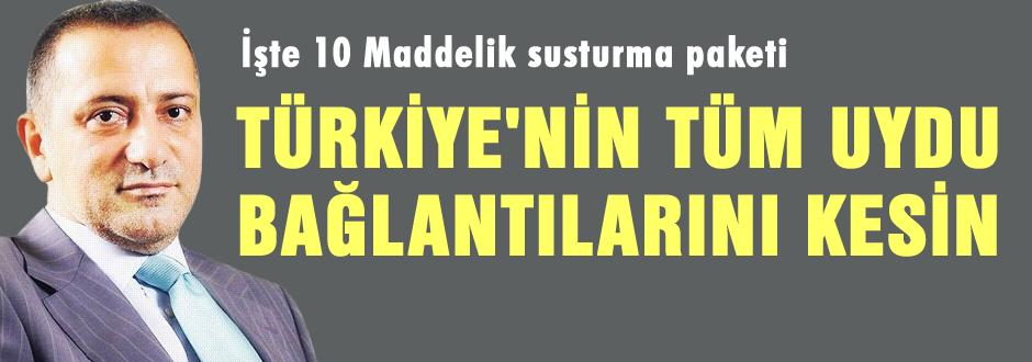 Türkiye'nin tüm uydu bağlantılarını kesin