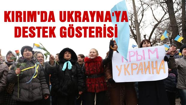 Akmescit'te Ukrayna'ya destek gösterisi