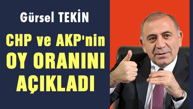 Tekin AKP ve CHP'nin oyunu açıkladı