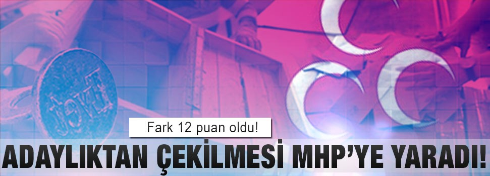 Adaylıktan çekilmesi MHP'ye yaradı!