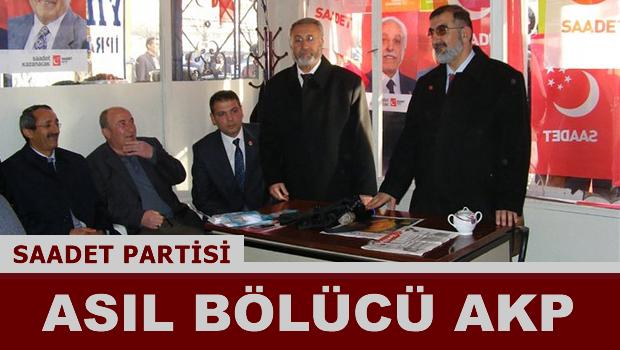 Asıl  bölücü AKP!