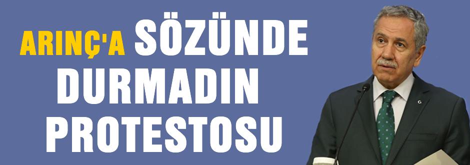 Arınç'a protesto 'Söz verdiniz 5 yıl oldu'