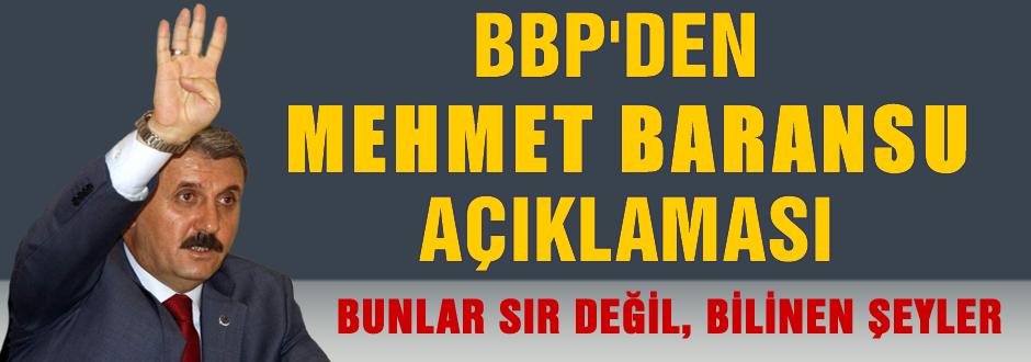 BBP'den Mehmet Baransu açıklaması