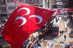 Erdoğan'a MHP bayrağı sürprizi