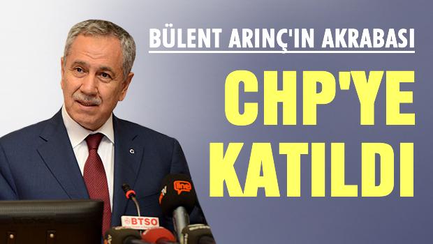 Bülent Arınç'ın  akrabası CHP'ye katıldı