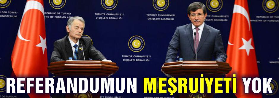 Kırım'daki referandumun meşruiyeti yok