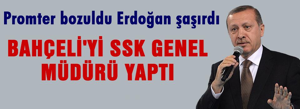 Prompter bozuldu, Erdoğan şaşırdı..