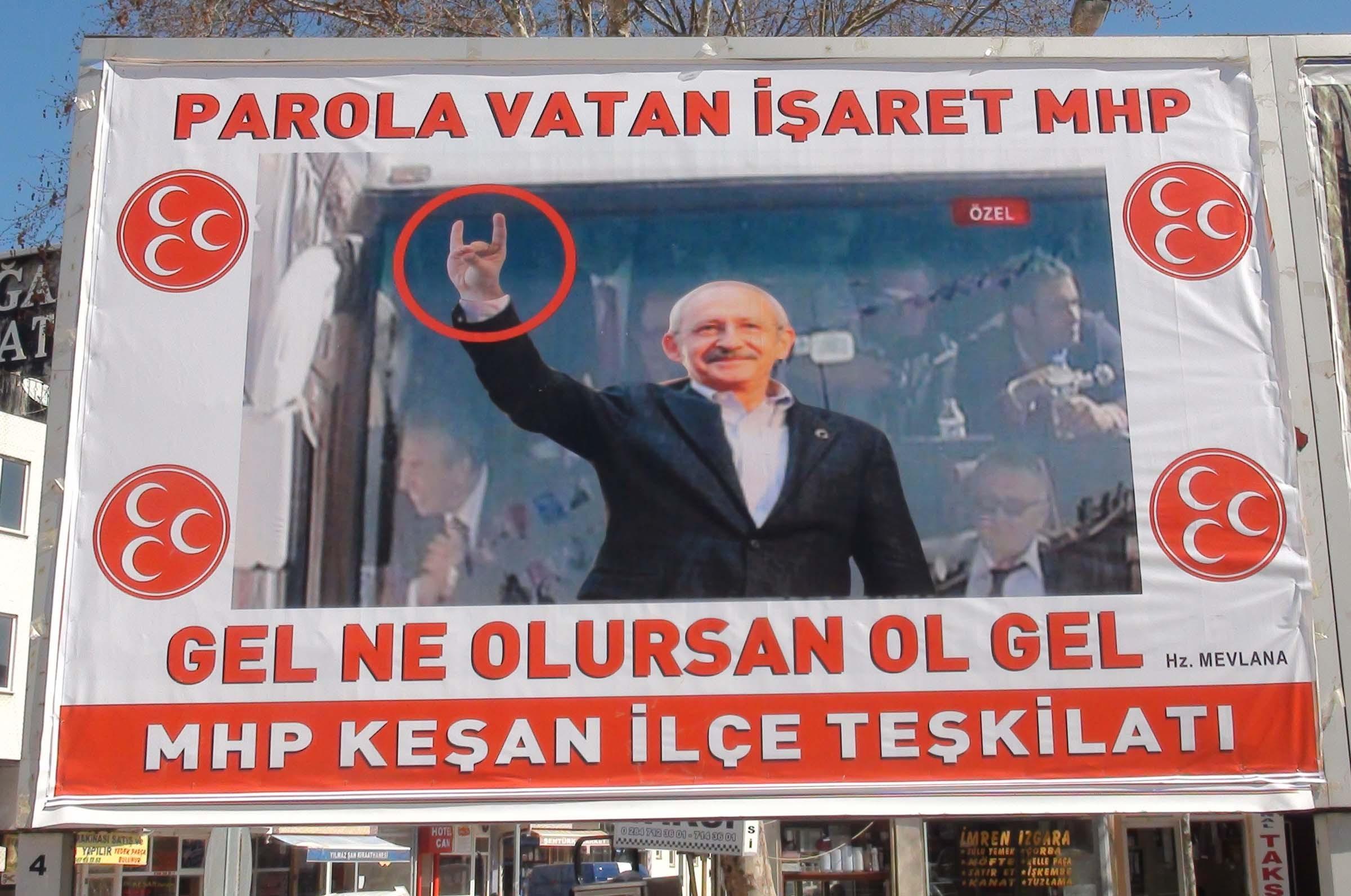 MHP'den şaşırtan Kılıçdaroğlu afişi