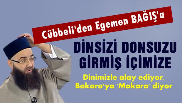 Cübbeli'den Egemen Bağış'a tepki
