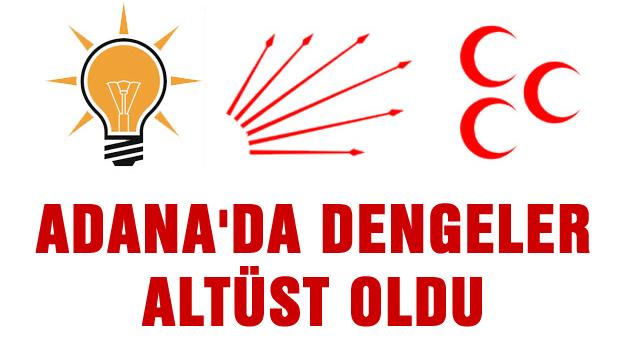 Adana'da dengeler tepetaklak