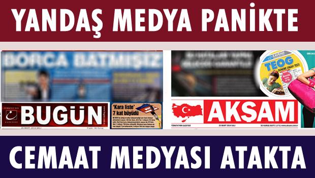 Hükümet gazeteleri panikte