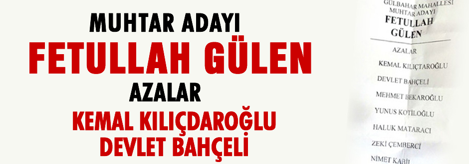 GÜLEN'E RİZE'DE 6 OY ÇIKTI