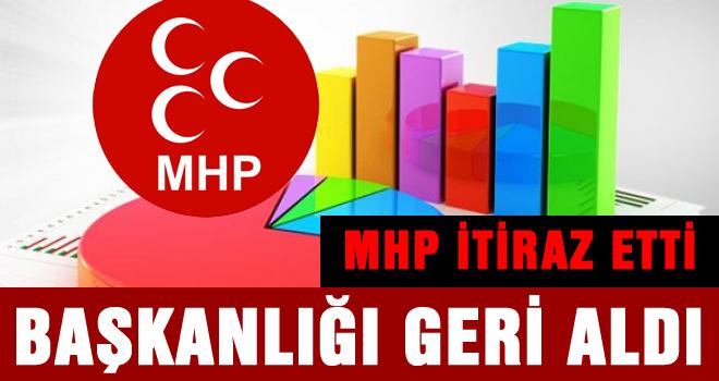 MHP itiraz etti, 4 oyla AKP'den geri aldı