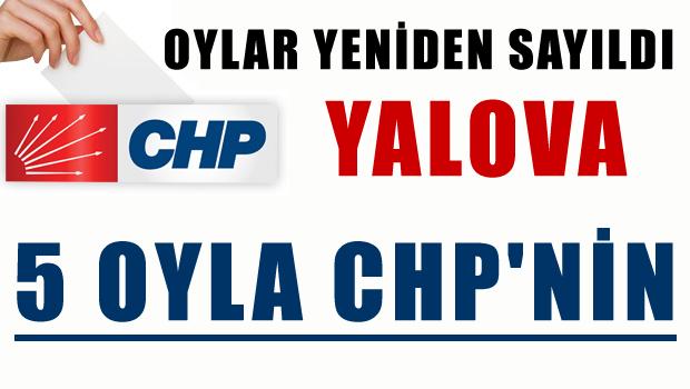 Yalova 5 oy farkıyla CHP'nin