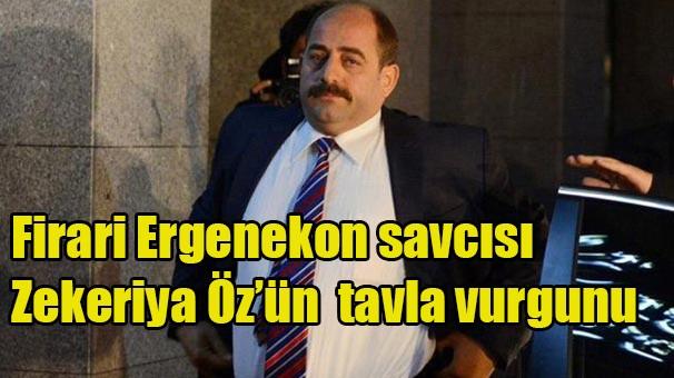Firari Ergenekon savcısı Zekeriya Öz'ün tavla vurgunu