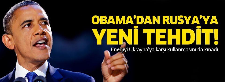 Barack Obama'dan Rusya'ya yeni tehdit