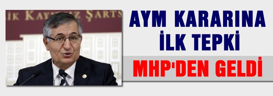 AYM'nin kararına ilk tepki MHP'den