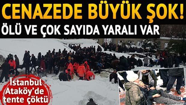 Ataköy'de cenazede büyük şok! Ölü ve yaralılar var