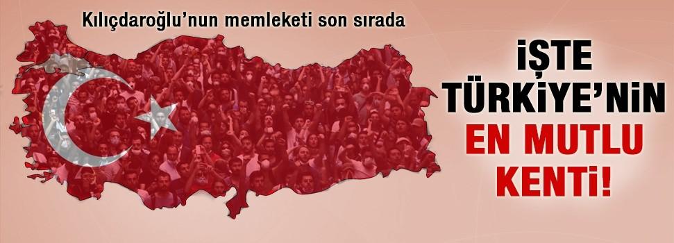 Türkiye'de en mutlu il belli oldu!
