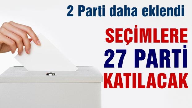 Yerel seçimlere kaç parti katılacak?
