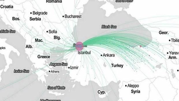 Dünyanın göç haritasını çıkardı