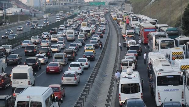 Araç sayısı 18 milyona dayandı