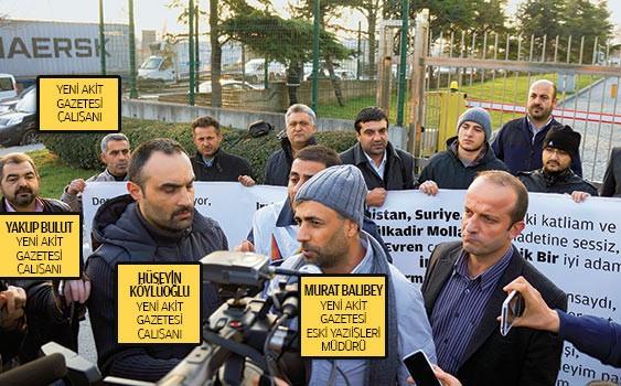 Zaman protestocuları Akit'çi çıktı