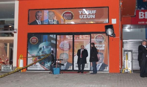 AKP Seçim  Merkezi önünde cinayet