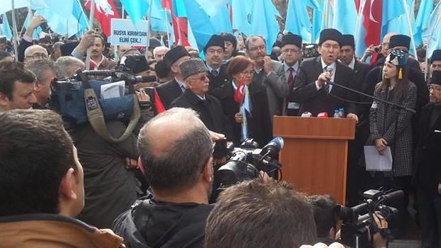 Ankara'da Kırım'a destek Mitingi