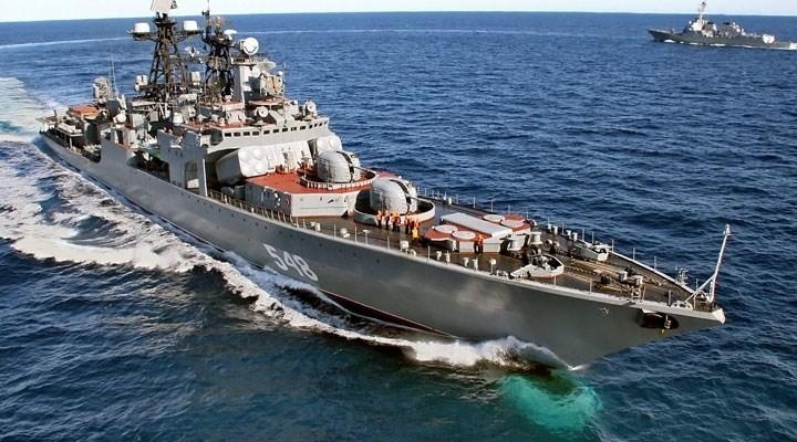 ABD Savaş gemisi Çanakale'de