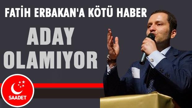 SP'den Fatih Erbakan'a kötü haber