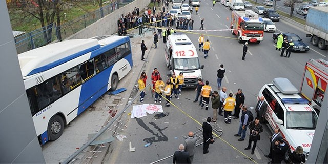 Ankara'da feci otobüs kazası