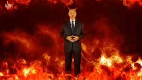 Alman televizyonu Erdoğan ile dalga geçti VİDEO