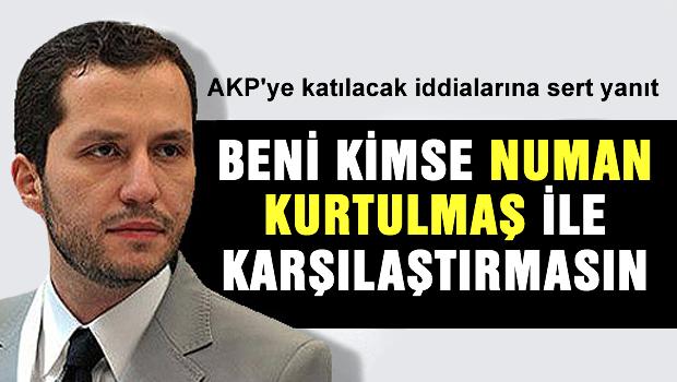 AKP'ye katılacak iddialarına sert cevap