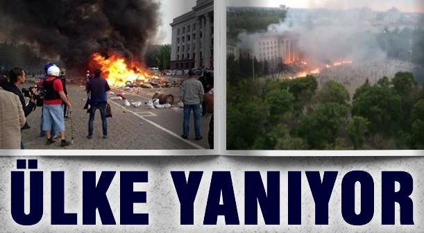 Odesa karıştı: 42 ölü, 65 yaralı