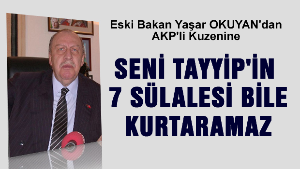 Seni Erdoğan'ın 7 sülalesi dahi kurtaramaz