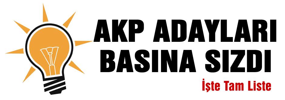 AKP'de Başkan adayları belli oldu!