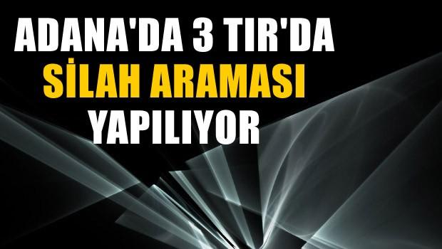 Adana'da 3 TIR'da silah araması