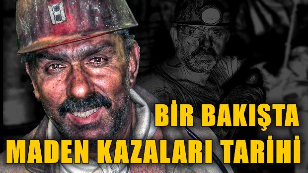 Maden kazaları tarihi şimdiye kadar kaç kişi öldü