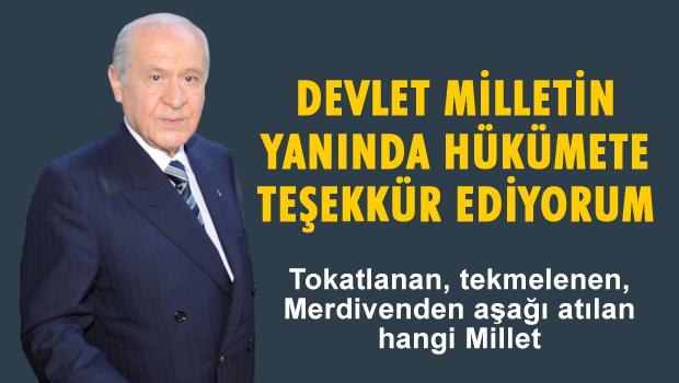 Bahçeli'den hükümete Soma teşekkürü!